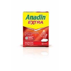 Anadin Extra Aspirin, Paracetamol & Caffeine 12 Caplets