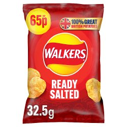 Walkers Crisps Ready Salted PM 65p