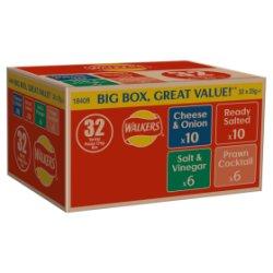 Walkers Variety Potato Crisps Box 32x25g