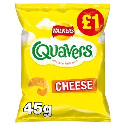 Walkers Quavers Cheese Snacks £1 PMP 45g