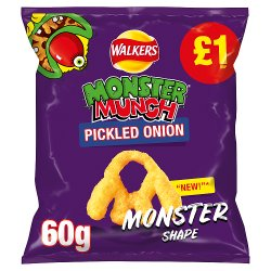 Walkers Monster Munch Pickled Onion Snacks £1 PMP 60g
