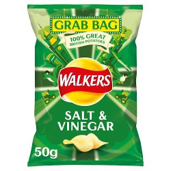 Walkers Salt & Vinegar Grab Bag Crisps 50g