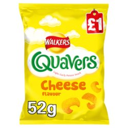 Walkers Quavers Cheese Snacks £1 PMP 52g