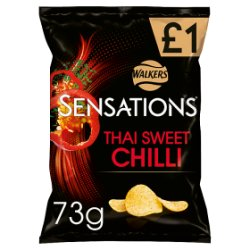 Sensations Thai Sweet Chilli Crisps £1 PMP 73g