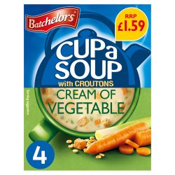 Batchelors Cup a Soup Cream of Vegetable with Croutons 4 Sachets 122g