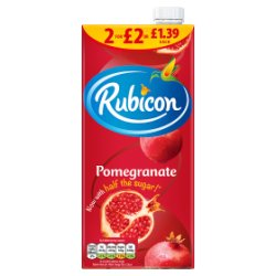 Rubicon Pomegranate Juice Drink 1L, PMP £1.39 or 2 for £2