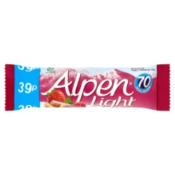 Alpen Bar Light Summer Fruits 24 x 19g Pricemarked 39p