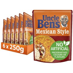 Uncle Bens Mexican Style Microwave Rice 250g