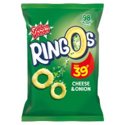 Golden Wonder Ringos Cheese & Onion 20g