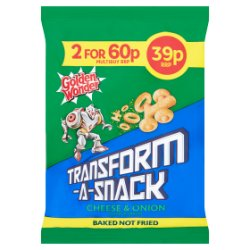 Golden Wonder Transform-A-Snack Courageous Cheese & Onion Flavour Snacks 30g