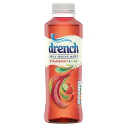 Drench Juicy Spring Water Strawberry & Lime 500ml