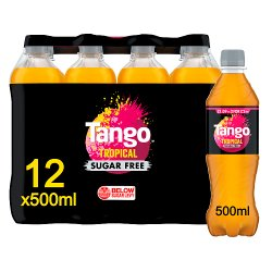 Tango Sugar Free Tropical 12 x 500ml