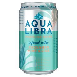 Aqua Libra Cucumber Mint & Lime Infused Fruit Flavoured Sparkling Water 330ml
