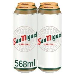 San Miguel Premium Lager Beer 4 x 568ml