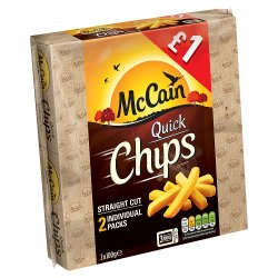 McCain Quick Chips Straight Cut 2 x 100g