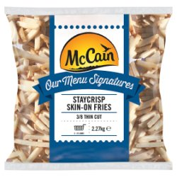 McCain Our Menu Signatures Staycrisp Thin Skin-On Fries 2.27kg