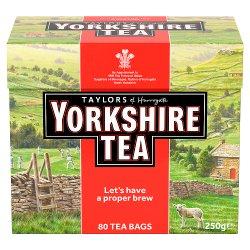 Taylors of Harrogate Yorkshire Tea 80 Tea Bags 250g