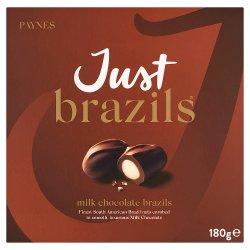 Just Brazils Milk Chocolate Brazils 180g
