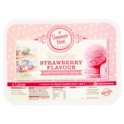 Summer Time Ice Cream Scrumptious Strawberry Flavour Soft Scoop Ice Cream 4 Litres
