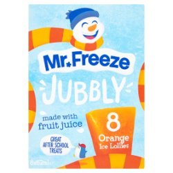 Mr. Freeze Jubbly Orange Ice Lollies 8 x 62ml