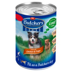 Butcher's Chicken & Tripe Loaf in Jelly Dog Food Tin 400g