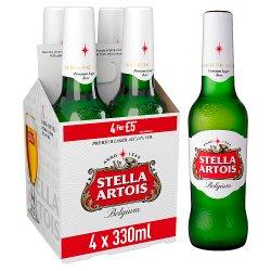 Stella Artois Belgium Premium Lager Bottles 4 x 330ml £5