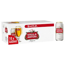 Stella Artois Premium Lager Cans 10 x 440ml