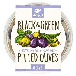 Delphi Black & Green Pitted Olives Olive 160g