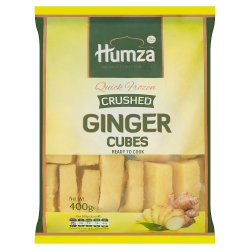Humza Premium Food Products Quick Frozen Crushed Ginger Cubes 400g