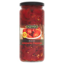 Aleyna Sliced Red Jalapeño Peppers 480g