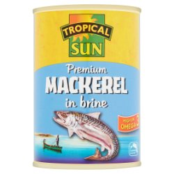 Tropical Sun Premium Mackerel in Brine 400g
