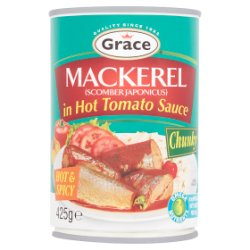 Grace Mackerel in Hot Tomato Sauce 425g