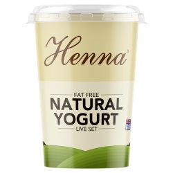 Henna Fat Free Natural Yogurt Live Set 400g