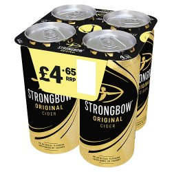 Strongbow Original Cider 4 x 440ml Can
