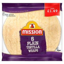 Mission 6 Plain Tortilla Wraps 368g