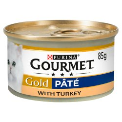 Gourmet Gold Tinned Cat Food Pate With Turkey 85g