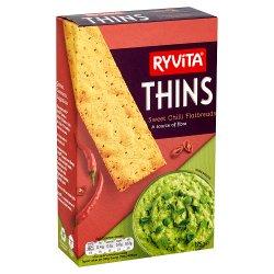 Ryvita Thins Sweet Chilli Flatbreads 125g