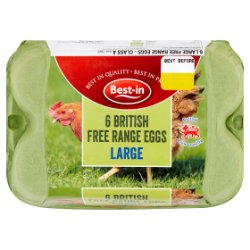 Best-in 6 British Free Range Eggs Large