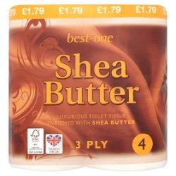 Best-One Shea Butter 3 Ply 4 Rolls