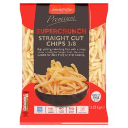 Essentially Catering Premium Supercrunch Straight Cut Chips 3/8 2.27kg