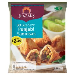 Shazans 30 Bite Size Punjabi Samosas 600g