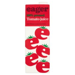 Eager 100% Pressed Tomato Juice 1 Litre