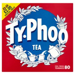 Typhoo 80 Tea Foil Fresh Teabags 232g