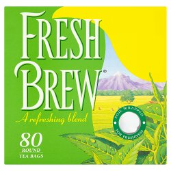 Fresh Brew 80 Round Tea Bags 232g