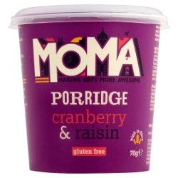 MOMA Porridge Cranberry & Raisin 70g