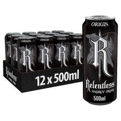 Relentless Origin Energy Drink 12 x 500ml