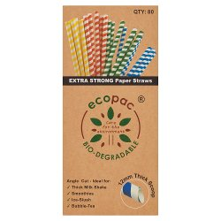 Ecopac 80 Extra Strong Paper Straw