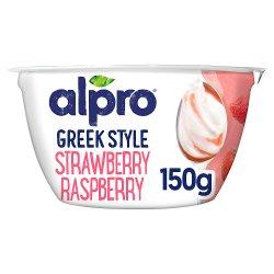 Alpro Greek Style Strawberry Yoghurt Alternative 150g