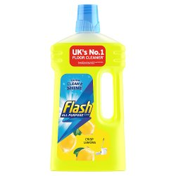 Flash Multi-Surface Cleaner Crisp Lemons 1L