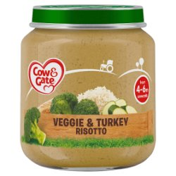 Cow & Gate Veggie & Turkey Risotto from 4-6m Onwards 125g